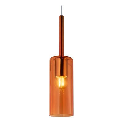 Colgante 1 Luz Tall Ambar Apto Led Vidrio Deco Moderno