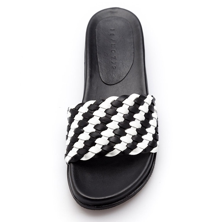 Slide Sophie Blanco y Negro/ Summer Sale 50% OFF