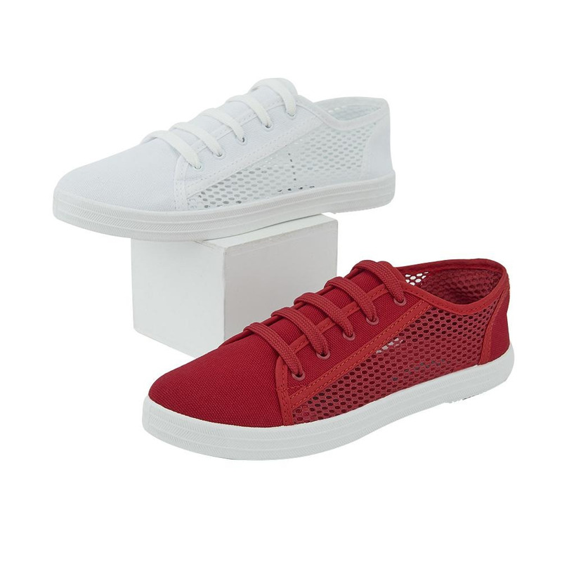Combo Sneakers 2X1 Rojo Y Blanco 020884