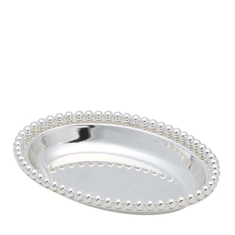 Bandeja Balls Oval em Silver Plated - Lyor 4103751