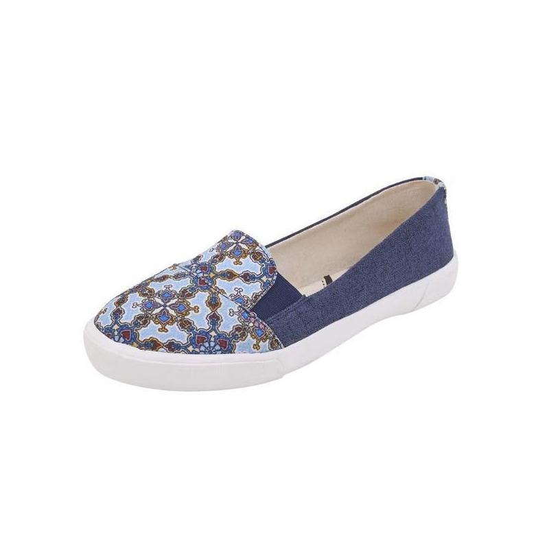 Flats azul mezclilla estampados 017503