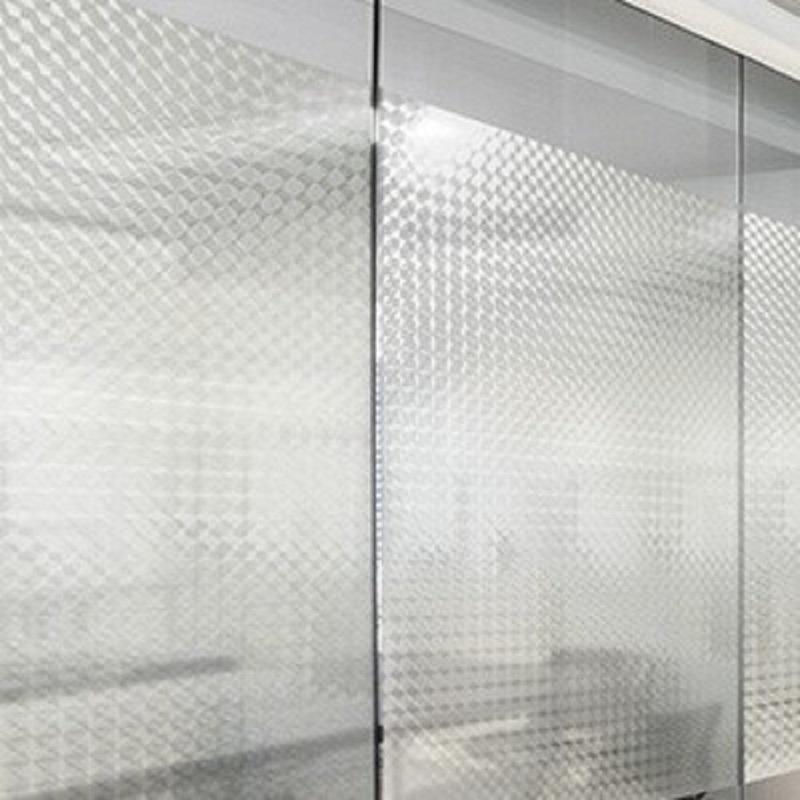 Vinil adesivo pixel cristal (incolor) larg.1,22 m