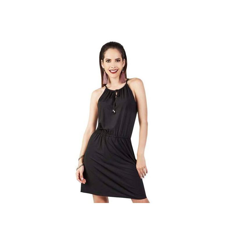 Vestido corto negro 015132