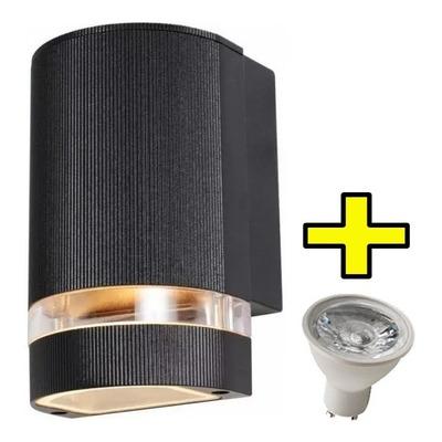 Aplique Difusor Unidireccional Exterior Aluminio Con Led 7w