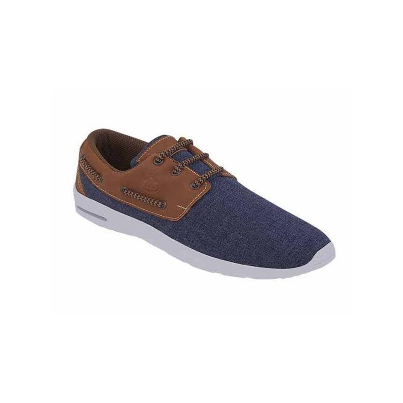 Sneakers azules agujetas café 018336