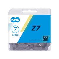 CORRENTE KMC Z7 CINZA 116 ELOS C/ PINO EMENDA - 7V
