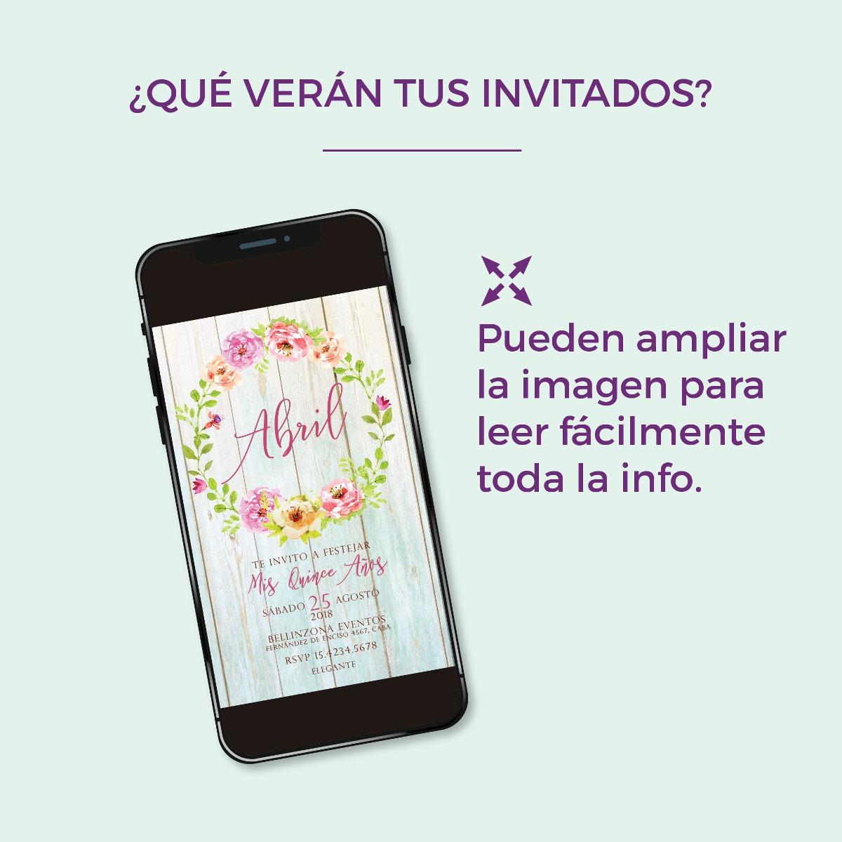 Invitación digital TD015 (Pink Floral)