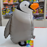 globo caminante pinguino inflado con helio
