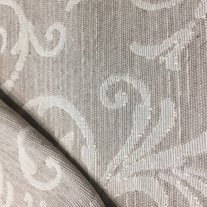 Tecido para estofado linho arabesco flamê  Linen 27