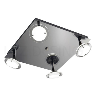 Plafon Led Onix 4 Luces 28w Alta Potencia Deco Moderno Móvil