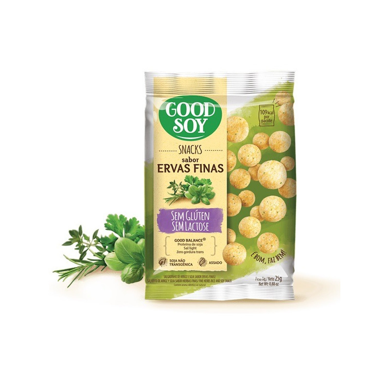 Salgadinho de Soja Snack Ervas Finas - 25g GoodSoy