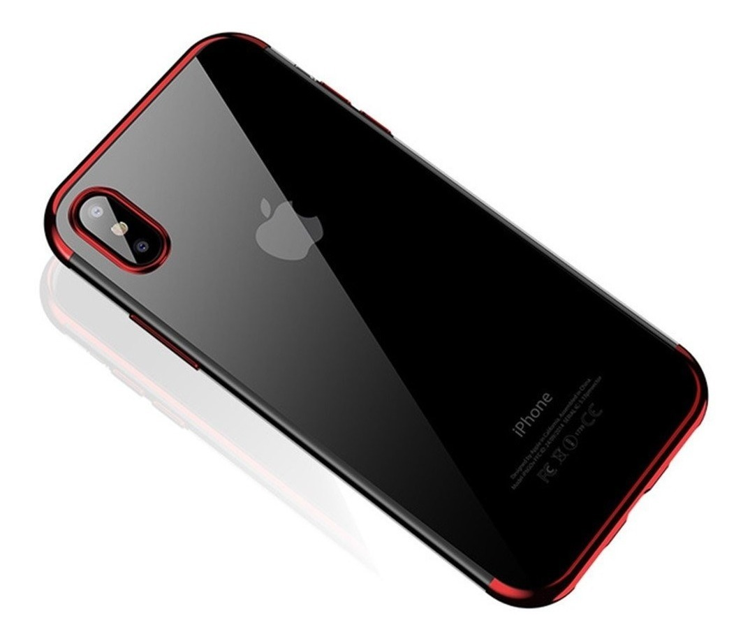 FUNDA IPHONE Xs MAX CAFELE TPU ROJO