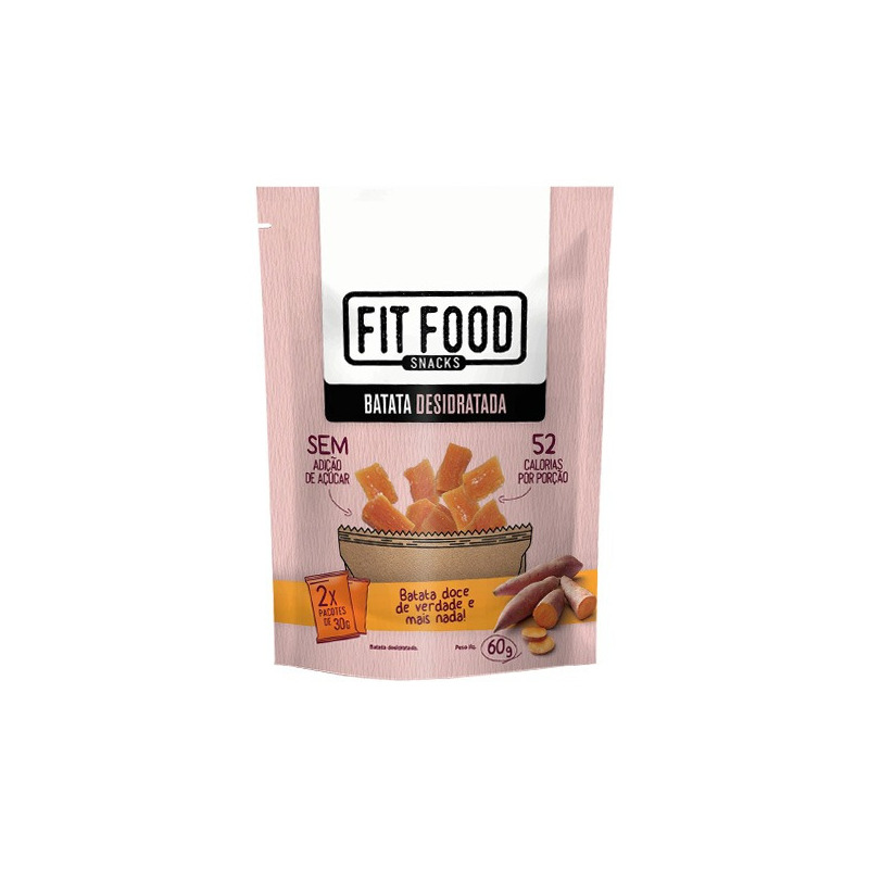 Batata Doce Desidratada - 60g - Fit Food