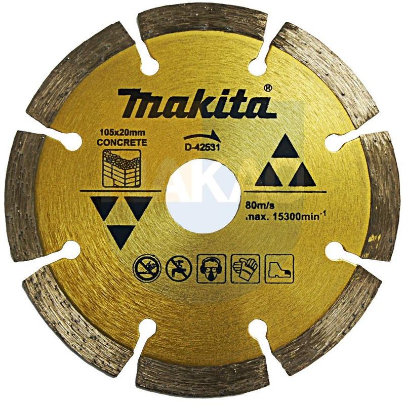 Disco Diamantado Concreto 105x 20mm - D-42531 - Makita