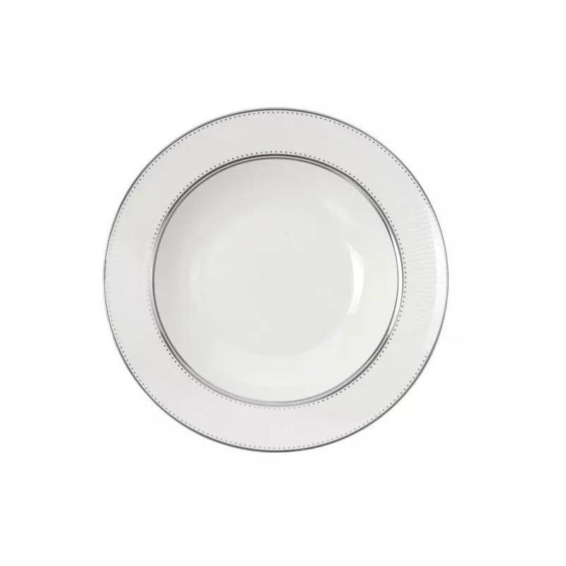 Jogo de Jantar New Bone China 42 Peças Platinum Beads - L´Hermitage 7522405