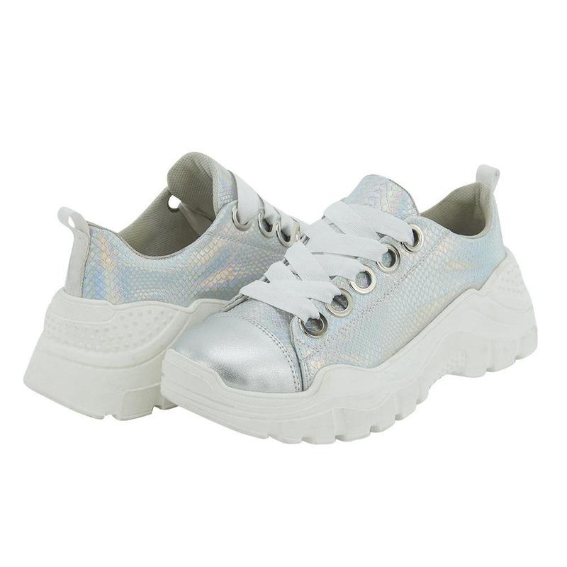 Sneakers Plata Brillantes 020873