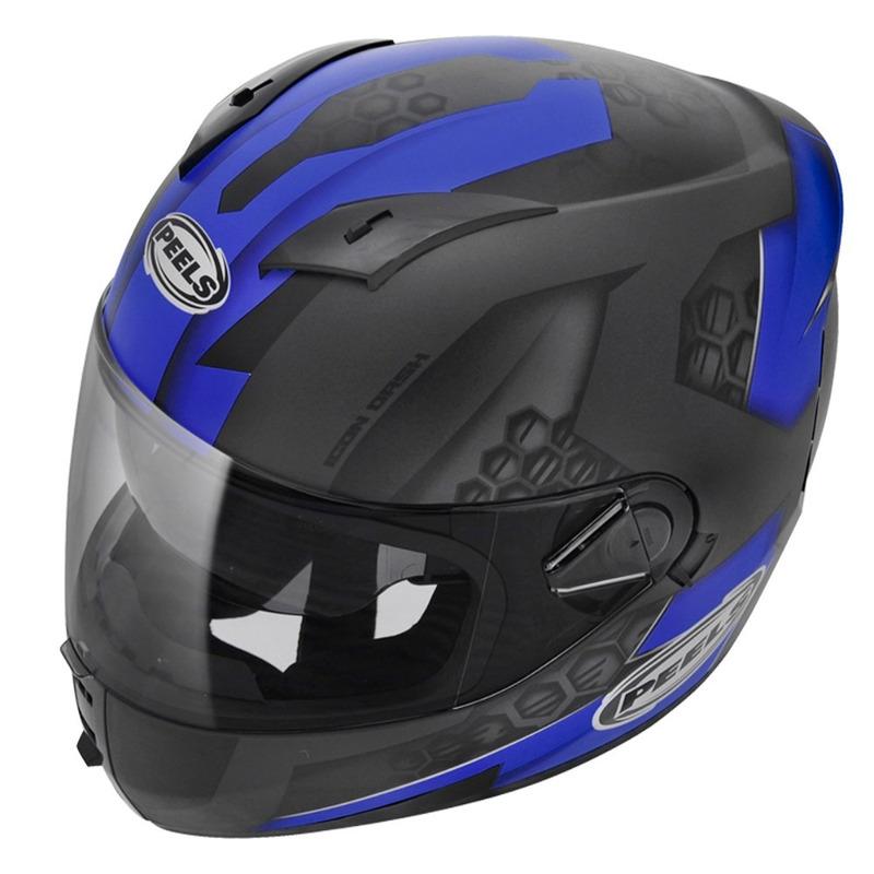 Capacete Peels Icon Dash Preto Fosco e Azul