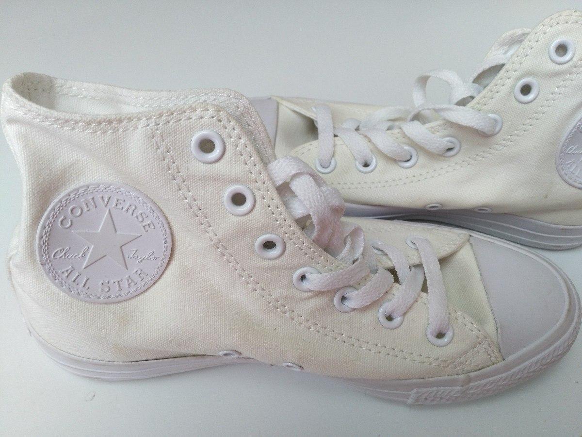 c4a70223e ... Zapatillas Converse All Star - Botitas Blancas Lisas ...