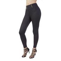 Pantalón negro con botonadura 008210