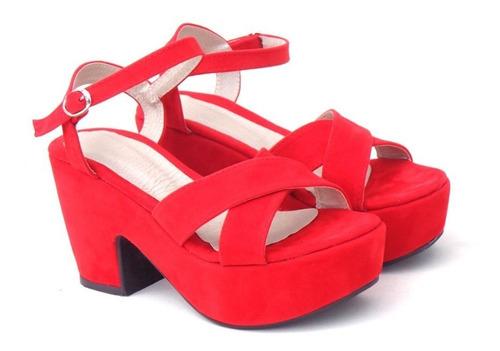 777436cb Zapatos Sandalias Mujer Taco Bajo Plataforma Temporada 2019   Tienda ...