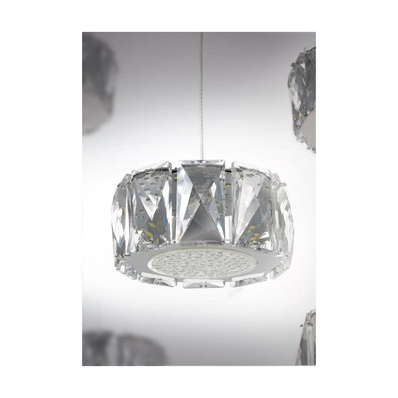 Araña Colgante Cristal Mery 10 Luces Led 61w Moderno Pal