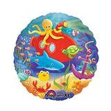 globo bajo el mar 45cm desinflado apto helio