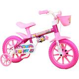 Bicicleta Infantil Aro 12 Nathor Flower 5 Menina 3 A 5 Anos