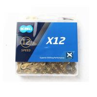 CORRENTE KMC X12 Ti-N GOLD / DOURADO 126 ELOS - 12V