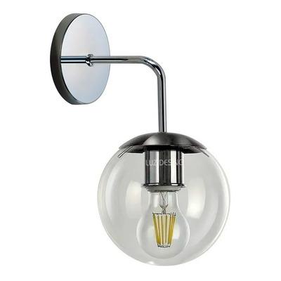 Aplique Vintage Transparente Apto Led Acero E-27 Luz Desing