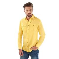 Camisa amarilla con botonadura  014620