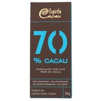 Chocolate com 70% Cacau - 30g - Espirito Cacau