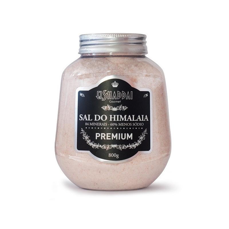 Sal Rosa do Himalaia Fino Pote 800g - El Shaddai Gourmet