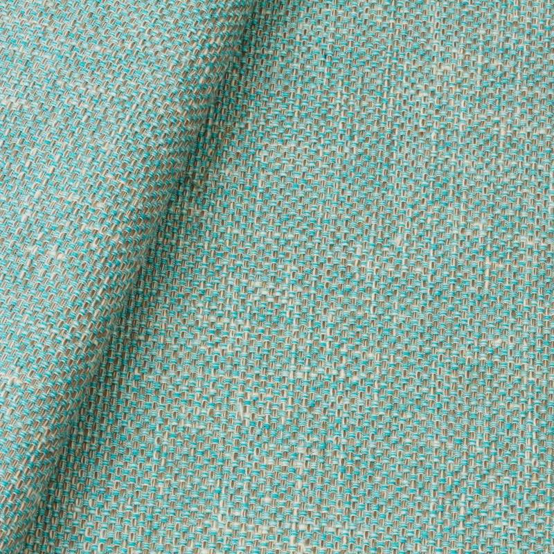 Tecido linho para sofá  azul tiffany Coleção Vicenzza