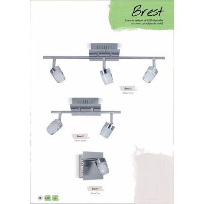 Aplique Brest 2 Luces Diseño Deco Con Led 10w Alta Potencia