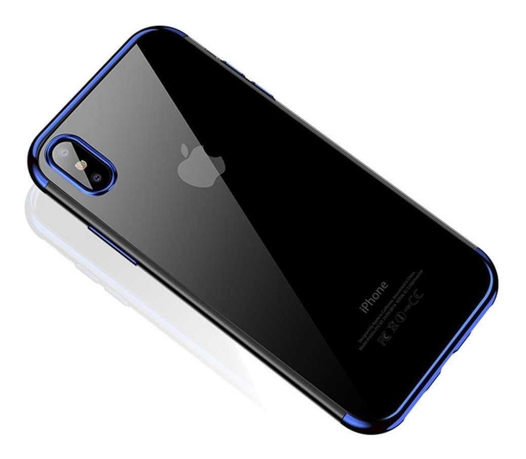 FUNDA IPHONE Xs MAX CAFELE TPU AZUL