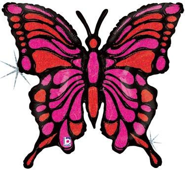 globo mariposa rosa/verde 1 mts desinflado apto helio