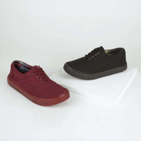 Combo sneakers negro y tinto 018562