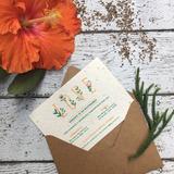 Kit Invitaciones Plantables + Tarjeta Regalos + Sobre Kra...