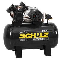 Compressor de Ar Linha PRO de Pistão 140PSI 2T - CSV-10/100L - Schulz - 110 e 220 Volts