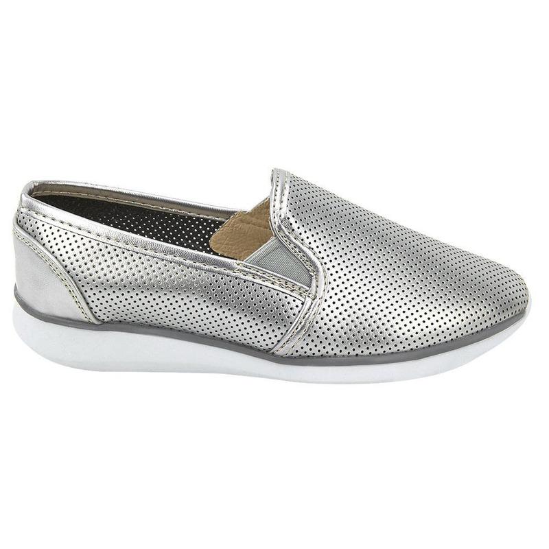 Sneakers Plata Con Puntos 020643