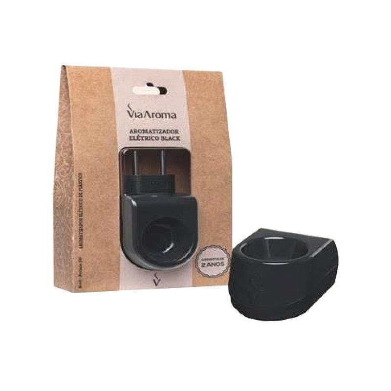 Aromatizador Eletrico Plastico Preto Bivolt Via Aroma