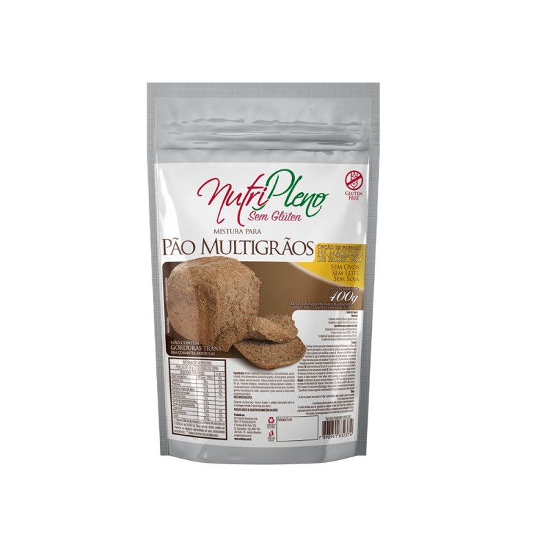 Pao Multigraos Sem Gluten - 400g - NutriPleno
