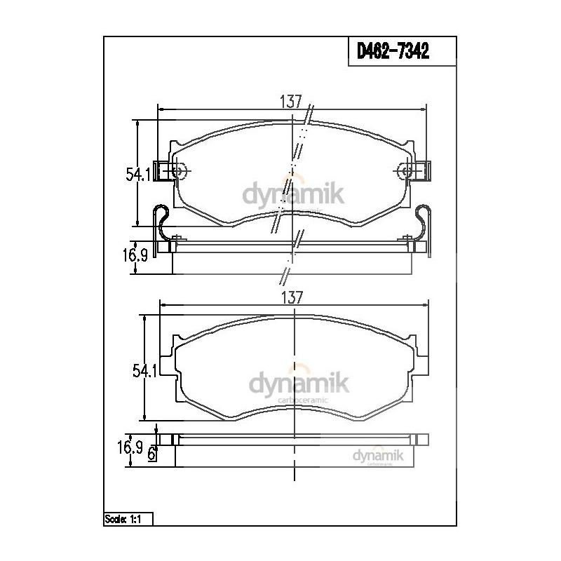 Balata Delantera Nissan:Primera,Sentra,Axxess,240Sx Dynamik S7342D462
