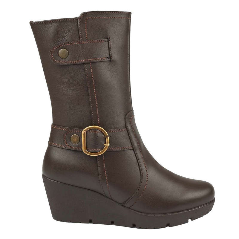 Bota plataforma chocolate  016692