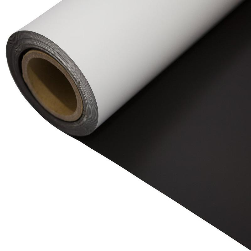 Manta magnetica  com vinil branco 0,04 mm larg. 0,60 m