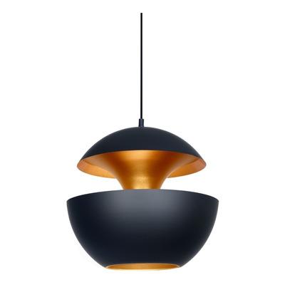 Colgante Cobre Moderno Oro Y Negro 35cm Apto Led Gyalí Lk