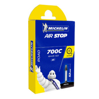 CÂMARA DE AR MICHELIN AIR STOP ARO 700 SPEED - 700 X 18/25C - VÁLVULA 52MM PRESTA (BICO FINO)