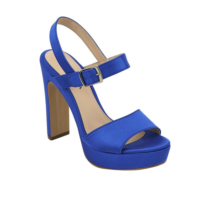 Sandalia De Tacón Azul 020163