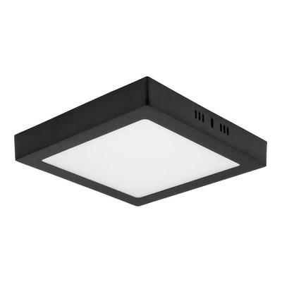Plafon Techo Led Cuadrado Panel 18w 220v Negro Completo