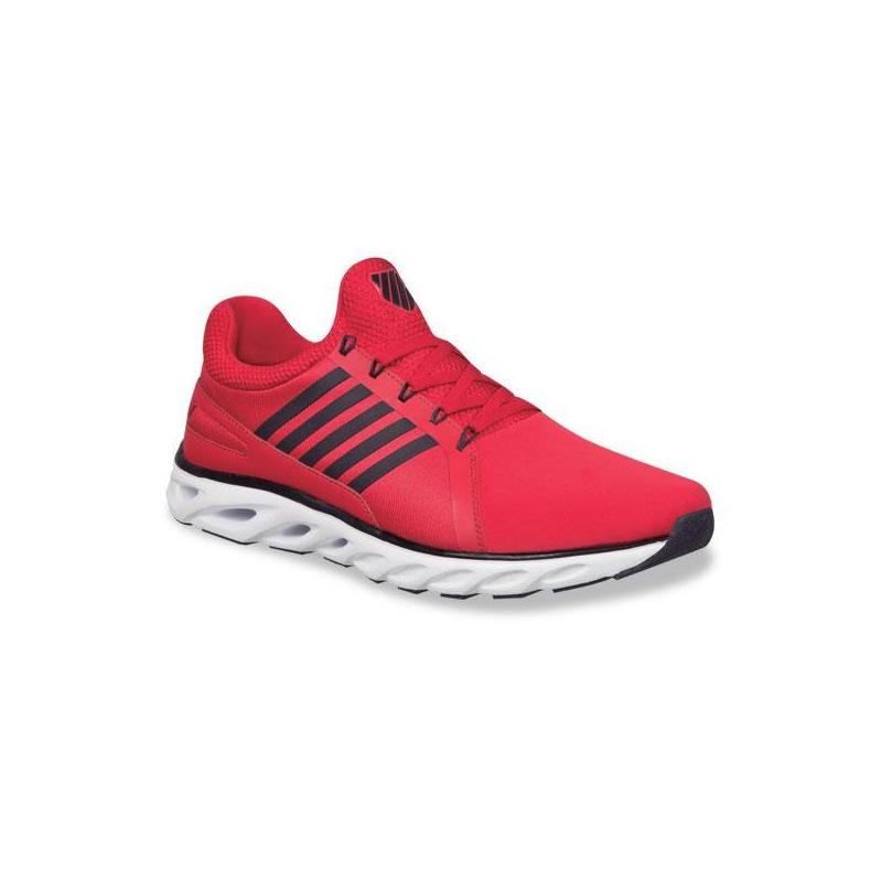 Sneakers K-Swiss rojos con negro K0F207